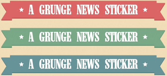A set of grunge/retro Ribbons
