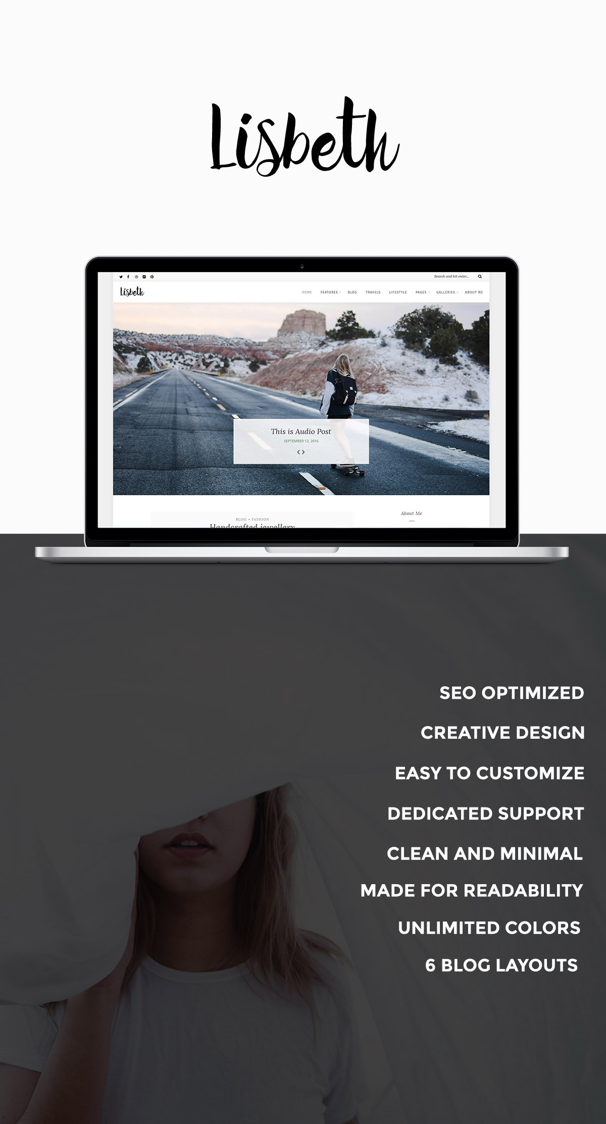 WordPress theme Lisbeth - A Lifestyle Responsive WordPress Blog Theme (Personal)