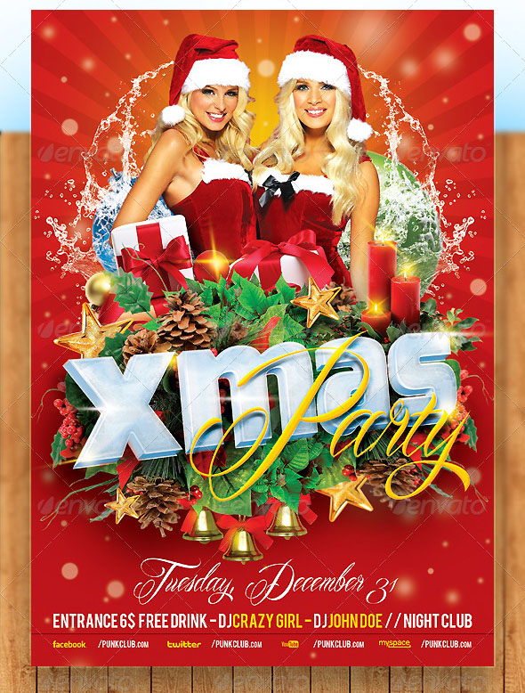 2014 Christmas Party Flyer Template