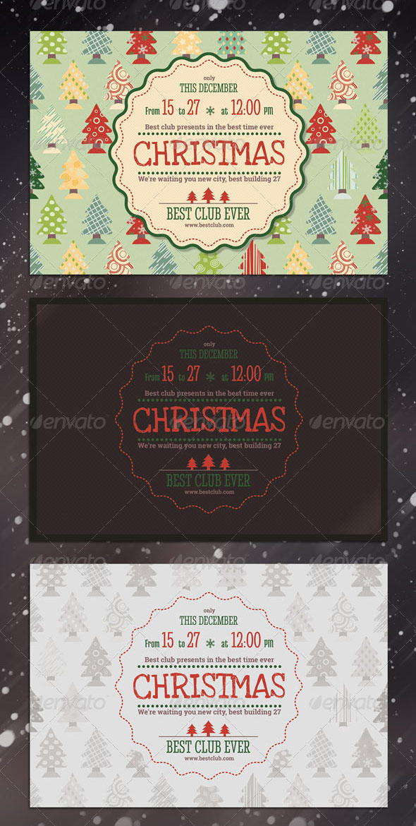 Christmas, New Year Party Flyer