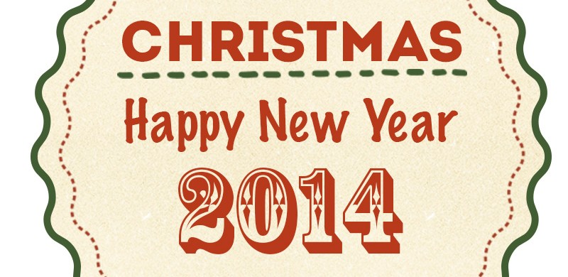 Merry christmas and a happy new year 2014 premiumcoding for Happy christmas vs merry christmas