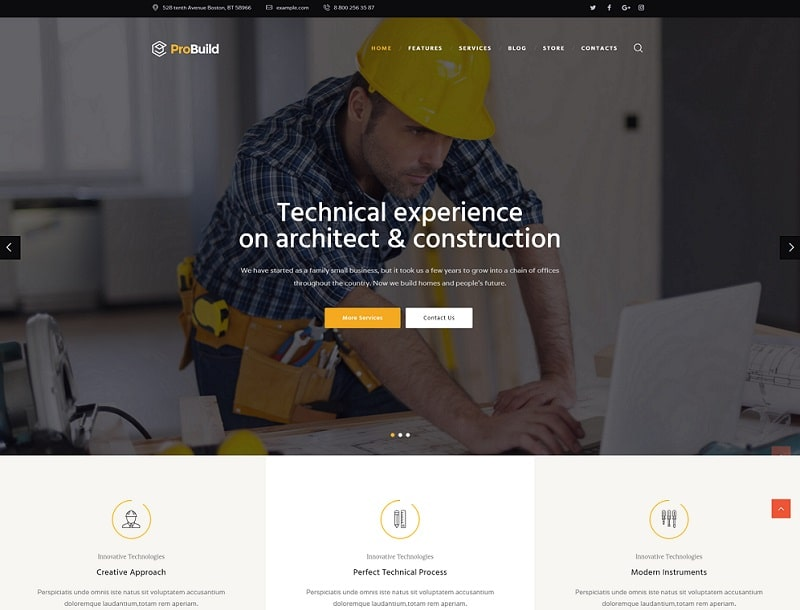 probuild wordpress theme