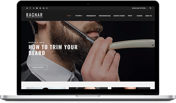 Ragnar - A Bold WordPress Blog Theme