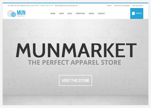 Munmarket - A One and Multi Page Ecommerce Theme - 1