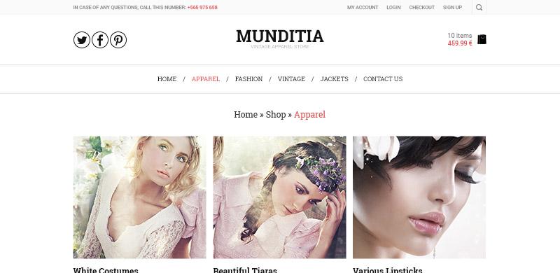 Munditia - Ecommerce PSD Template