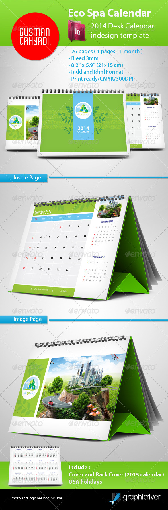 Best 2014 calendar templates premiumcoding simple clean and professional corporate calendar easy to use just put your logo and image and its ready to print and also customizable saigontimesfo