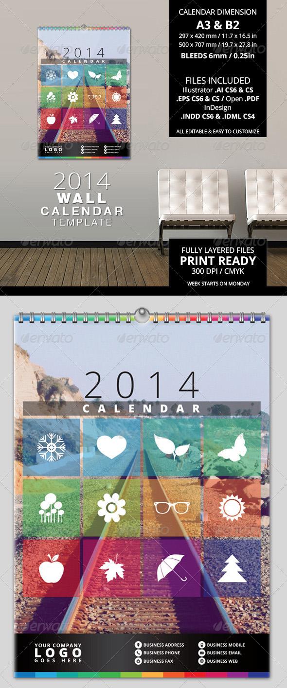 Best 2014 calendar templates premiumcoding 2014 wall calendar template saigontimesfo