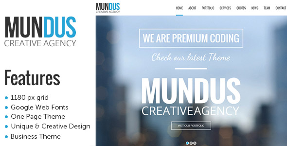 Mundus One Page WordPress Theme