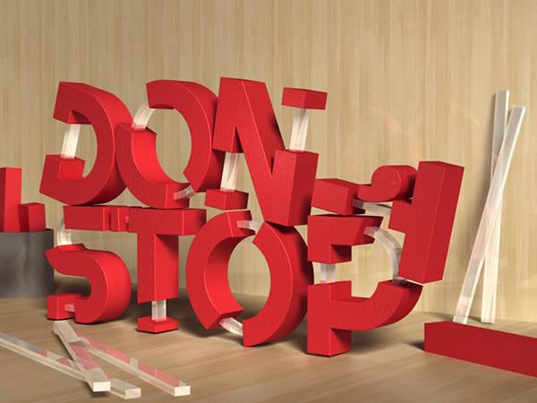 Как сделать эффект букв