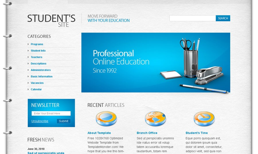 Top 10 useful web design tricks and free templates for An website