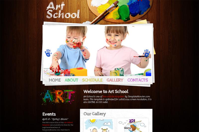 art-school-free-template