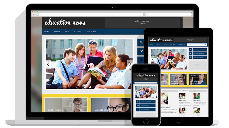 educational-site-responsive-layout