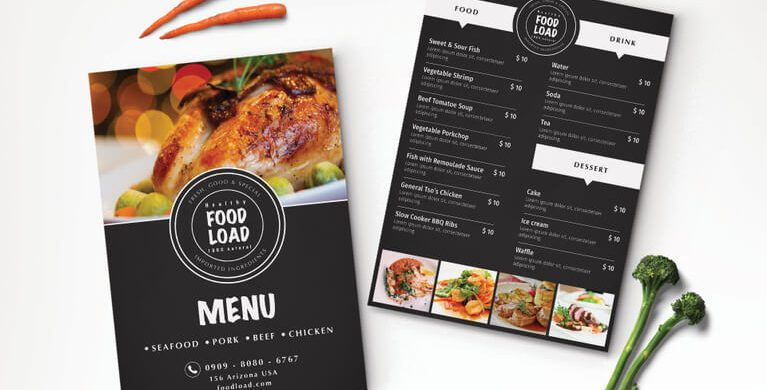 13 best selling menu templates for restaurants