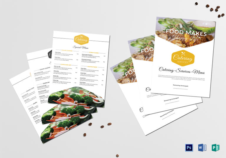 Food Catering Services Menu Template