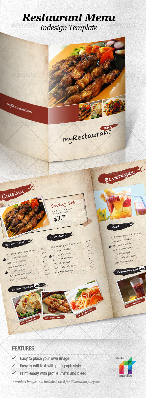 templates for restaurant menus - 13 best selling menu templates for restaurants premiumcoding