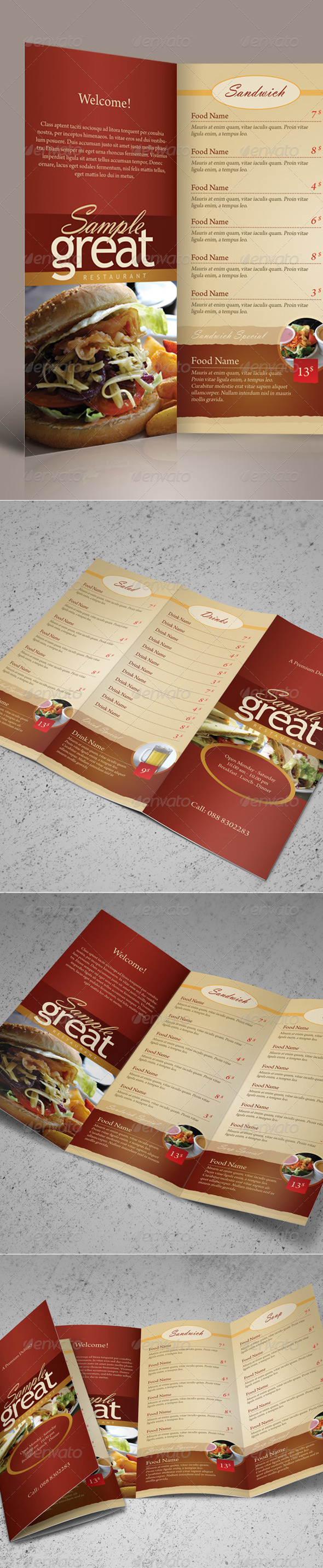 This Template Is Perfect For Any Restaurant Cafe That Needs Clean Elegant Their Take Out Menu Design Project
