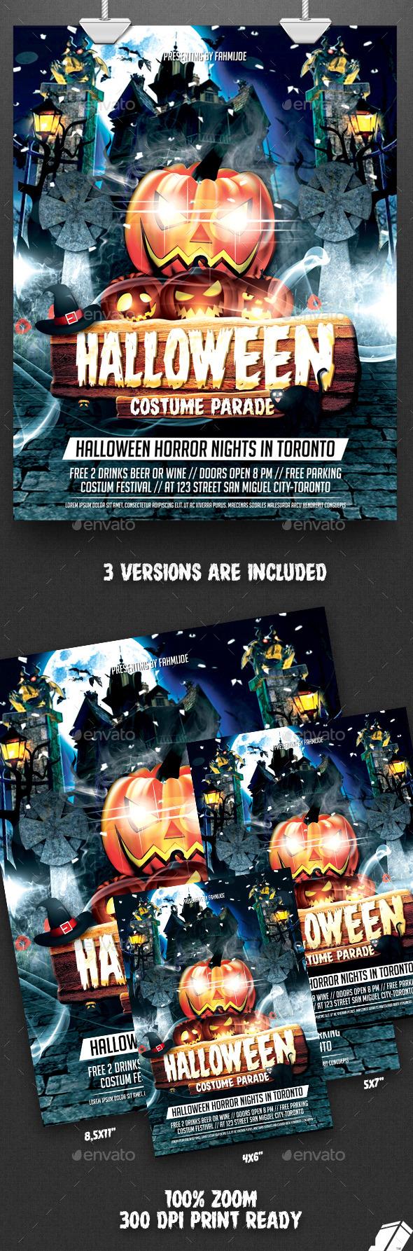 Halloween Flyer Costume Parade Halloween4