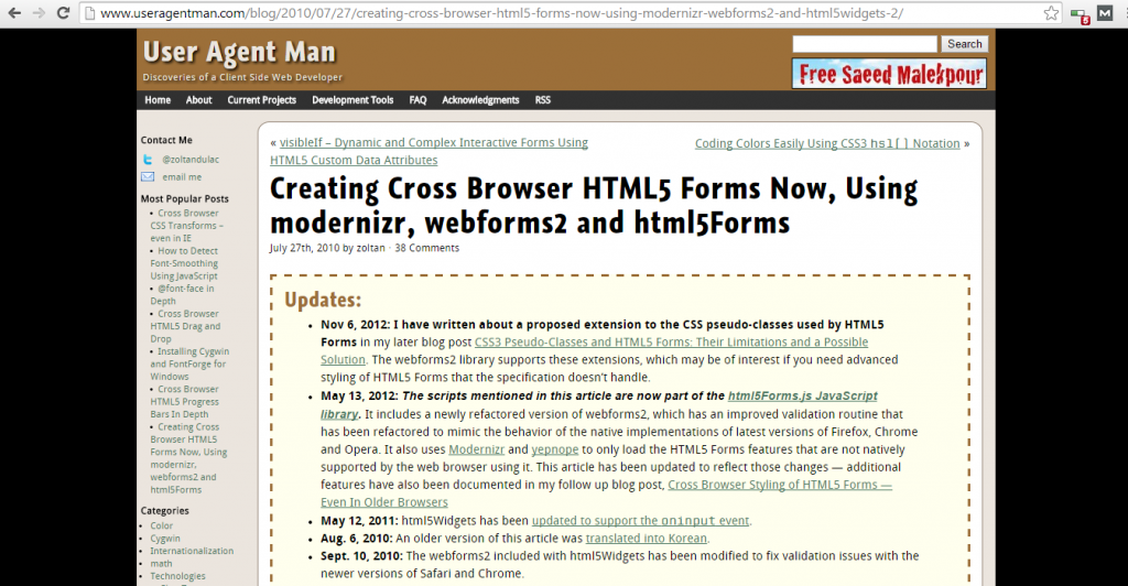 Cross Browser HTML5 Forms