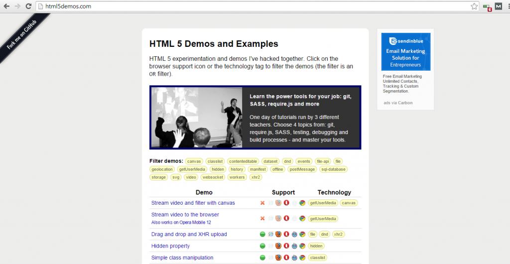 HTML5 Demos