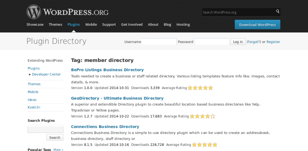 WordPress › member directory « Tags « WordPress Plugins.3