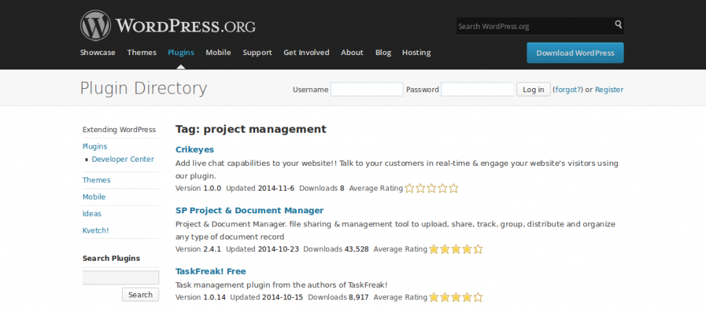 WordPress › project management « Tags « WordPress Plugins