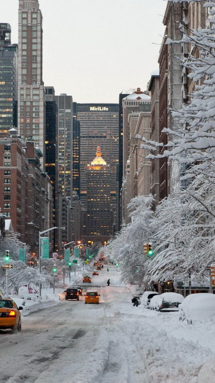 Iphone 6s wallpaper tumblr hd - Iphone6 New York In Snow Iphone 6 Wallpaper