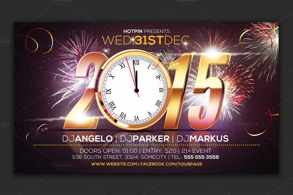 10 best new year flyers for 2015 premiumcoding