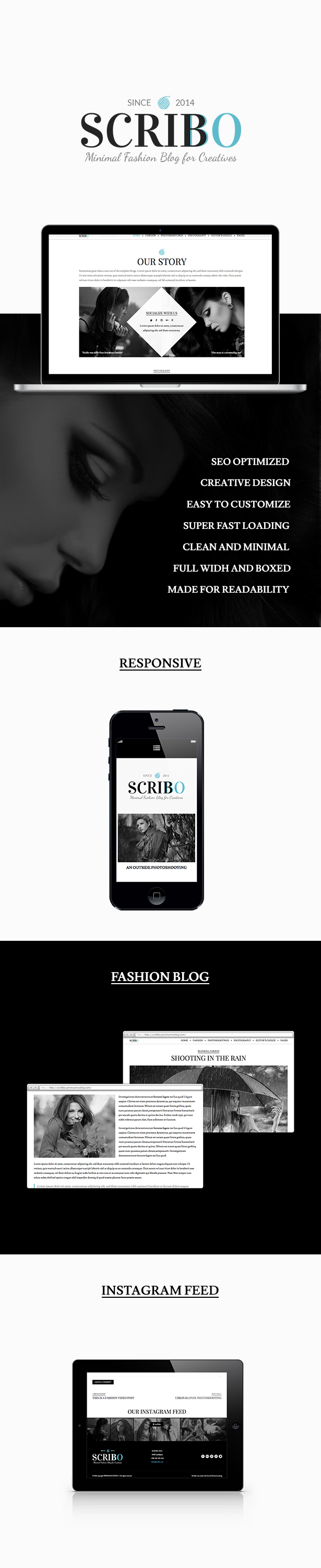 Scribbo - Minimal Elegant Fashion WordPress Blog
