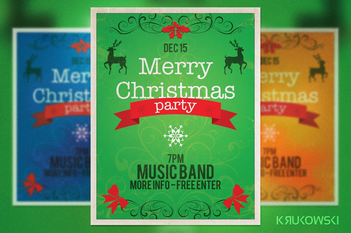 best christmas flyers premiumcoding vintage christmas flyer poster is adobe photoshop print template great to promote christmas party and other winter events
