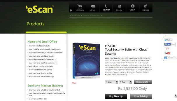 eScan Total Security Suite 1