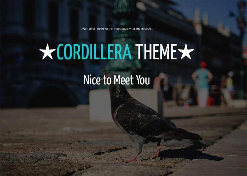 Cordillera Free WordPress Theme