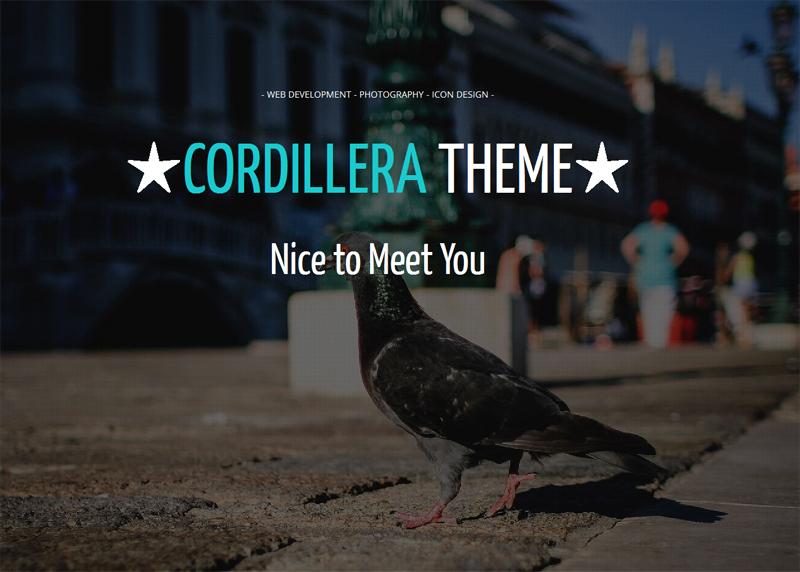 Cordillera Free WordPress Theme