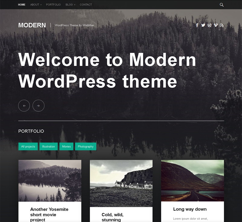 Free Portfolio and Blog WordPress Theme