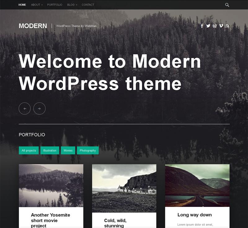 Free Portfolio and Blog WordPress Theme