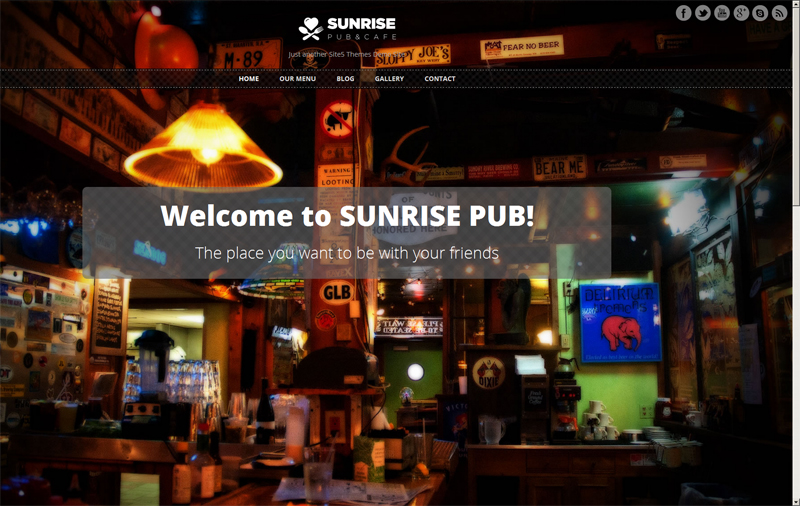 Free Responsive WordPress Theme for Pubs and Restaurants