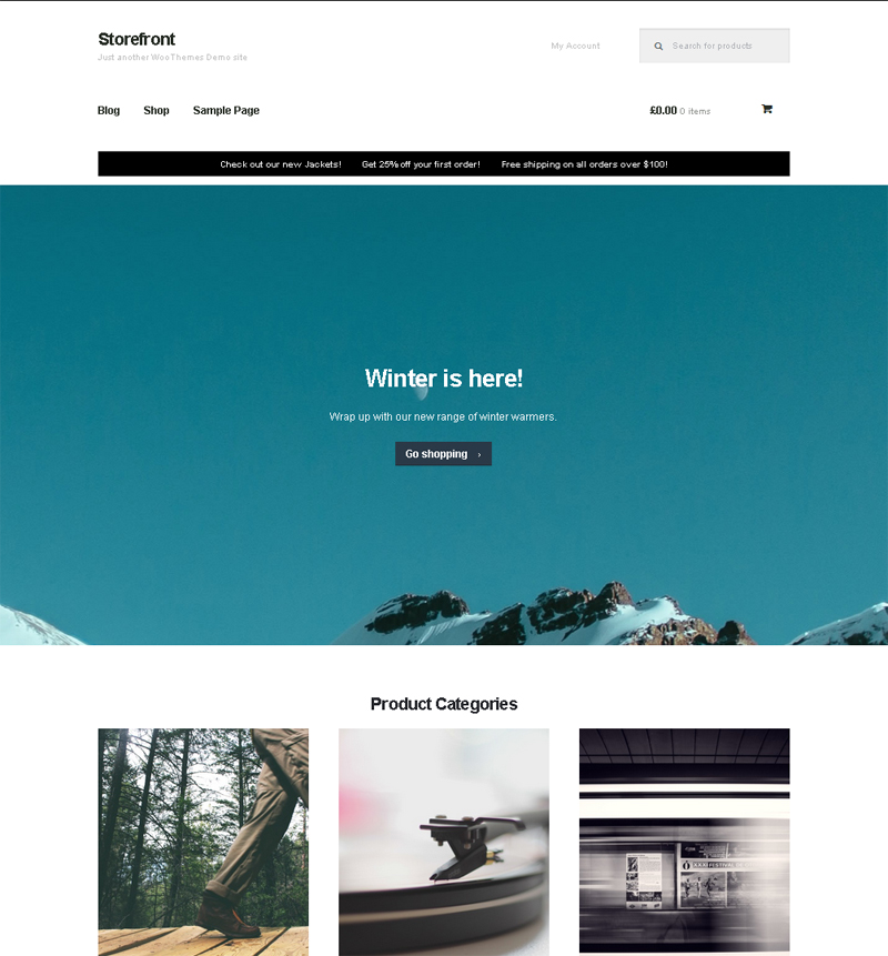 Free WordPress Theme with WooCommerce Integration