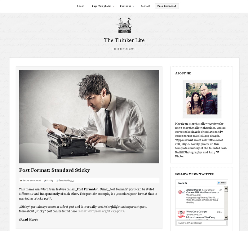 The Thinker Lite Free WordPress Theme