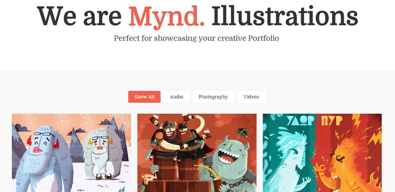 Mynd Free Wordpress Theme