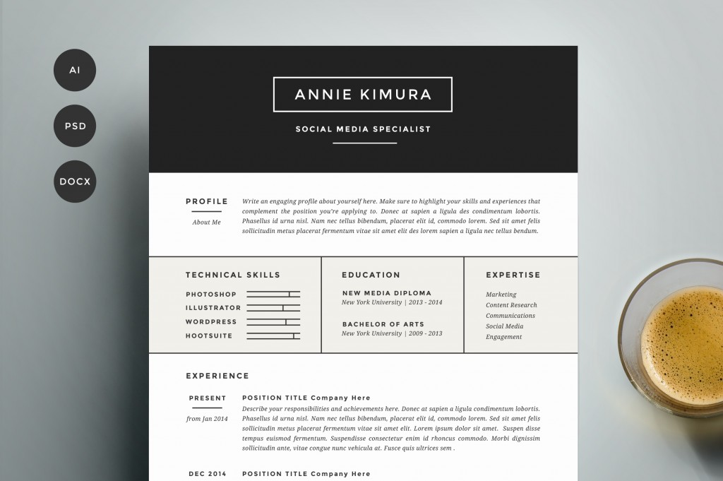 get refined and get noticed with this four page template design including handcrafted two page resume cover letter and references because your life