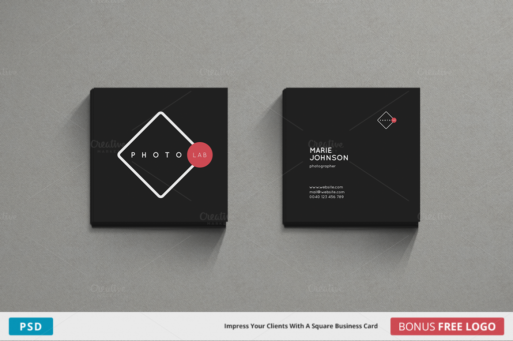 Square Business Card Photoshop Template Image collections - Card ...