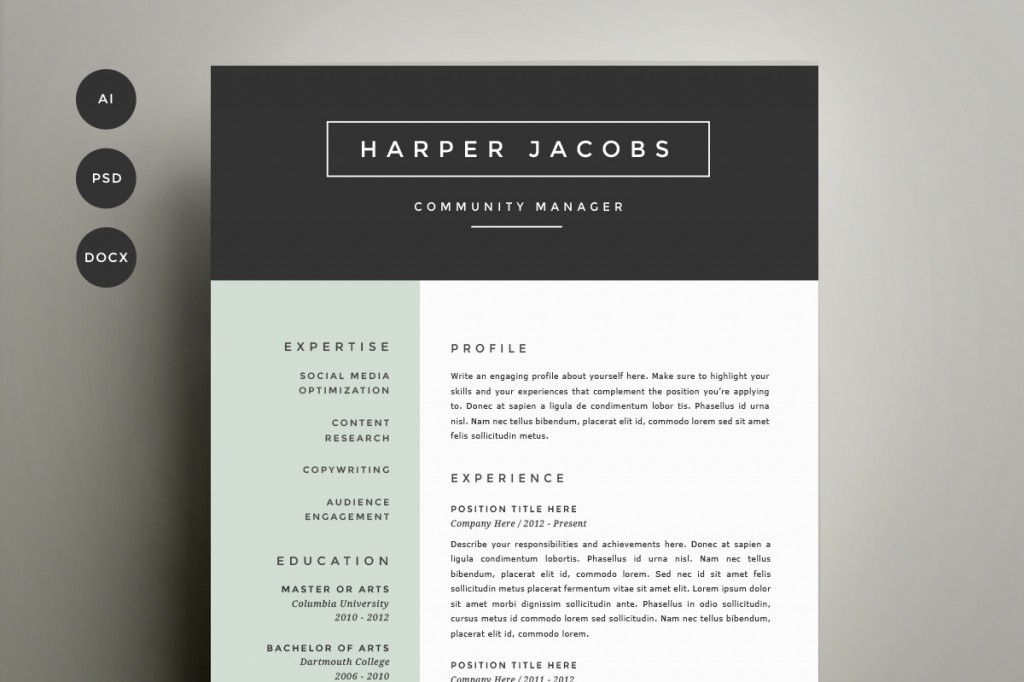Get Refined And Get Noticed With This Four Page Template Design, Including  Handcrafted Two Page Resume, Cover Letter And References U2013 Because Your  Life ...  New Resume Templates