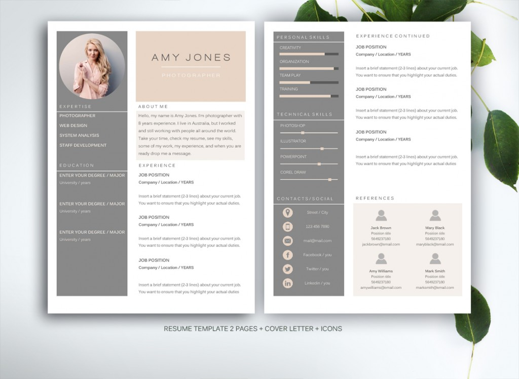 In Our Shop You Can Get High Quality, Modern And Elegant CV Templates That  Are Drawn By Professional Designer. Our Resumes Combine Nicely Thought Out  Design ...