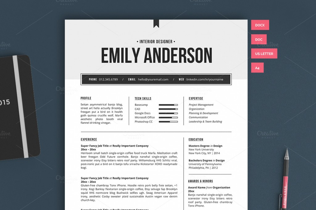 Resume Template | The Emily 2pk