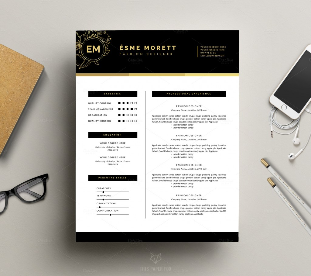 resume templates to help you get a new job premiumcoding fashion resume template for ms word