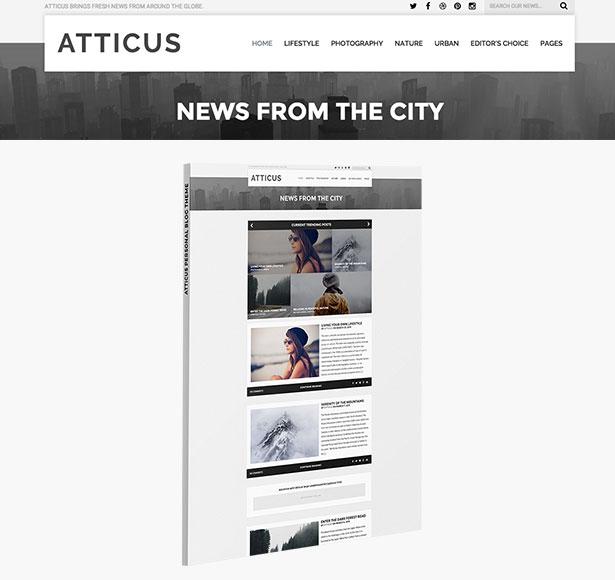 Atticus - Minimal & Personal WordPress Blog Theme
