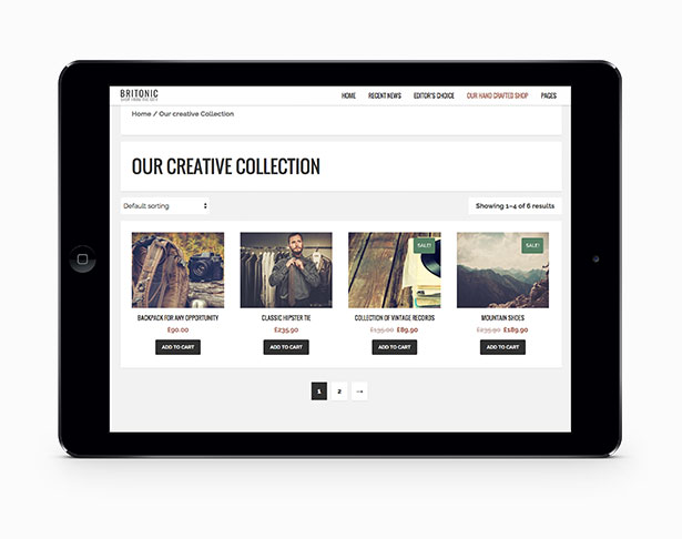 Britonic - An ecommerce WordPress Blog Theme