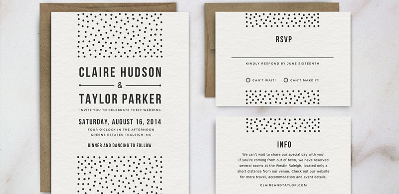 10 Beautiful Wedding invitations