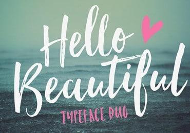 TUESDAY FONTS: Hello Beautiful, Desiderata and Cake Sans – Light