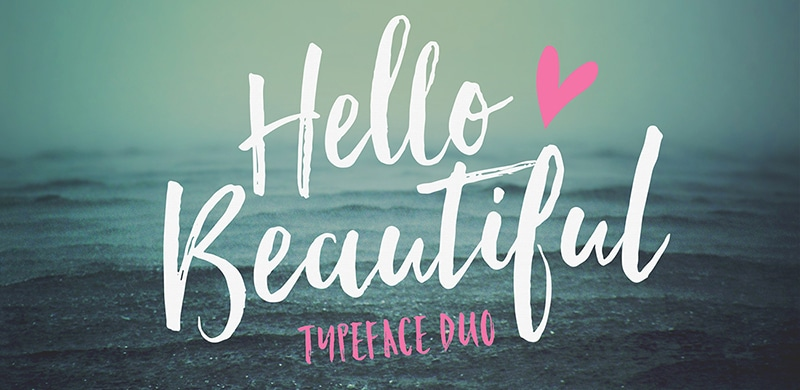 TUESDAY FONTS: Hello Beautiful, Desiderata and Cake Sans – Light