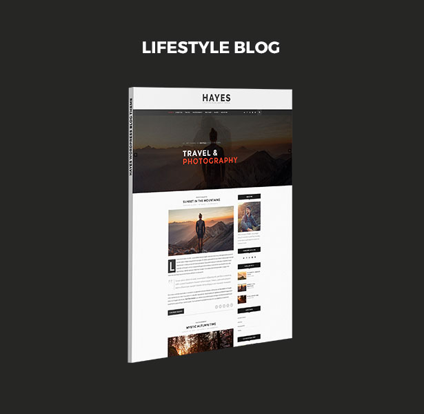 Hayes - Minimal & Personal WordPress Blog Theme